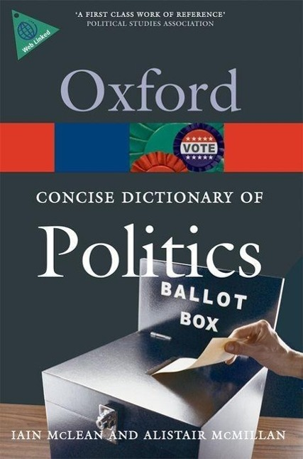Concise Oxford Dictionary of Politics Iain McLean