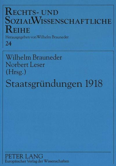 Staatsgründungen 1918