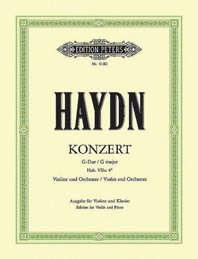 Konzert für Violine und Orchester G-Dur Hob. VIIa: 4