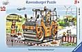 Arbeit mit der Straßenwalze. Kinderpuzzle 15 Teile