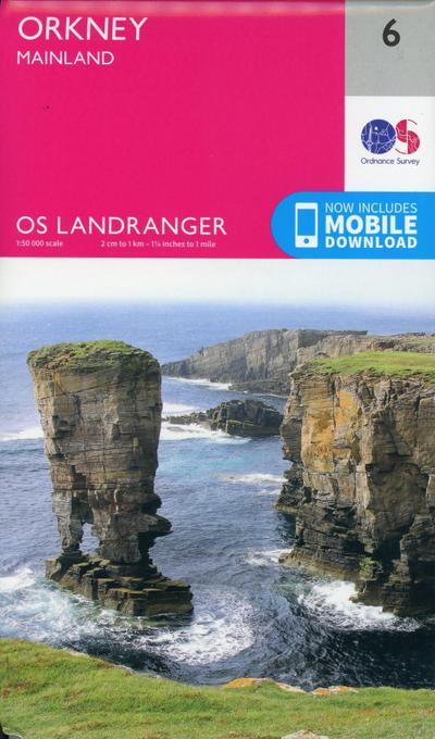 Orkney - Mainland 1 : 50 000 (OS Landranger Map)