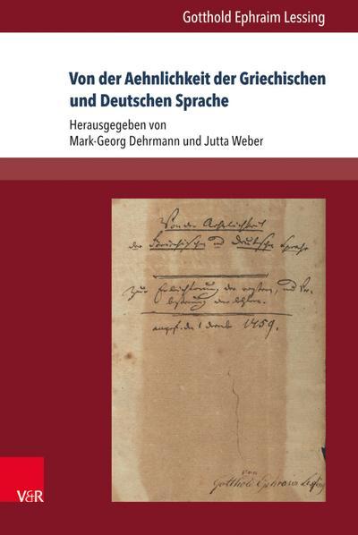 Von der Aehnlichkeit der Griechischen und Deutschen Sprache