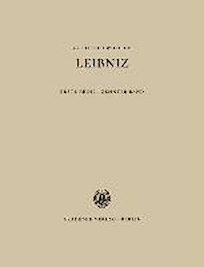 Sämtliche Schriften und Briefe. Allgemeiner politischer und historischer Briefwechsel 10. 1694