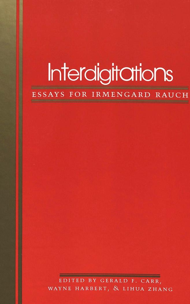 Interdigitations   Gerald F. Carr    9780820438023