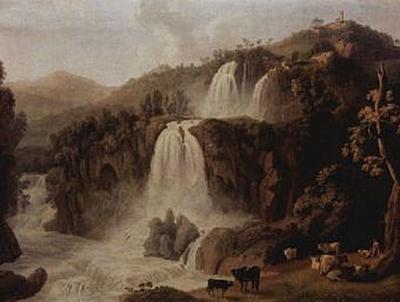 Jacob Philipp Hackert - Die großen Wasserfälle in Tivoli - 200 Teile (Puzzle)