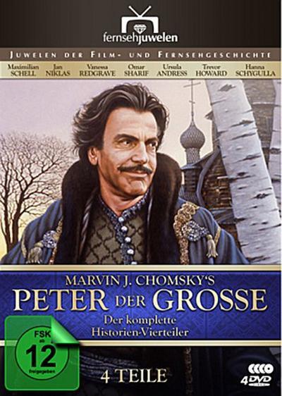 Peter der Große - Der komplette Vierteiler, 4 DVDs