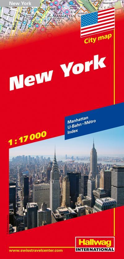 City map. New York 1 : 17 000