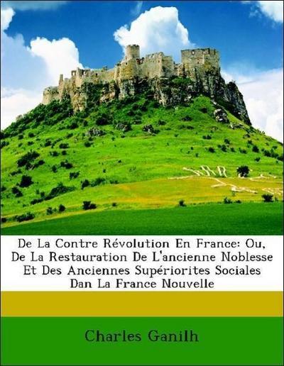 De La Contre Révolution En France: Ou, De La Restauration De L'ancienne Noblesse Et Des Anciennes Supériorites Sociales Dan La France Nouvelle