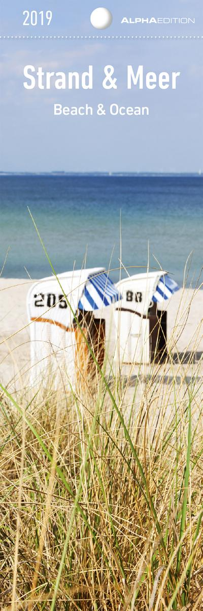 Strand & Meer 2019 - Lesezeichenkalender (5,5 x 16,5) - Beach & Ocean - Lesehilfe - ALPHA EDITION - Kalender, Deutsch, ALPHA EDITION, Beach & Ocean, Beach & Ocean