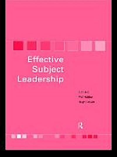 Becoming an Effective Subject Leader