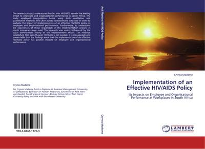 Implementation of an Effective HIV/AIDS Policy