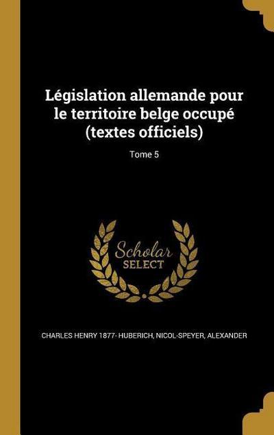 FRE-LEGISLATION ALLEMANDE POUR