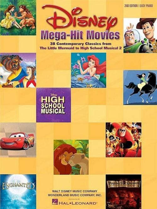 Disney Mega-Hit Movies Pf: For Easy Piano Various