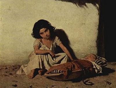 August Xaver Karl von Pettenkofen - Zigeunerkinder - 500 Teile (Puzzle)