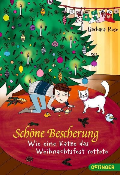 Schöne Bescherung; Wie eine Katze das Weihnachtsfest rettete; Ill. v. Parciak, Monika; Deutsch; 31 schw.-w. Abb.