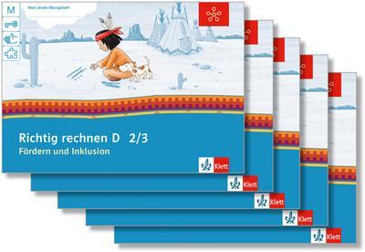 Mein Indianerheft. Richtig rechnen D. Fördern und Inklusion. Arbeitsheft Klasse 2/3 (5-er Paket)