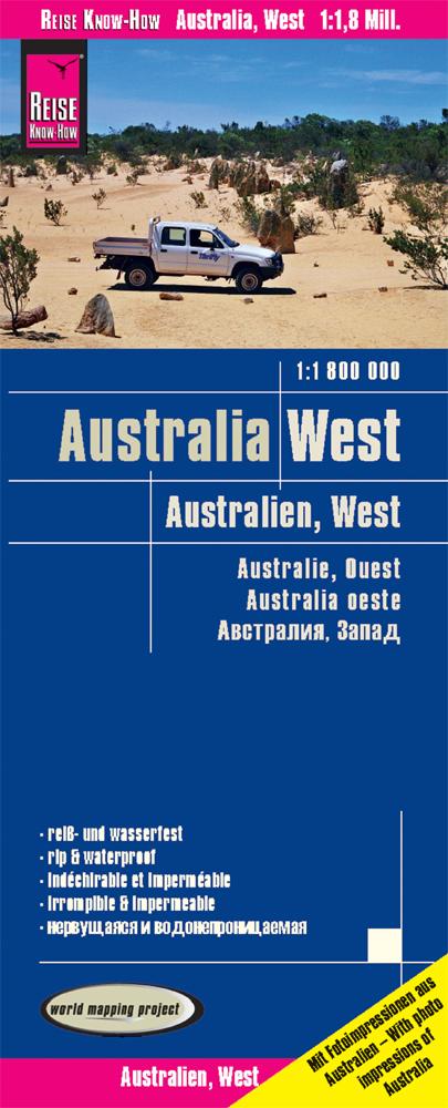 Reise Know-How Landkarte Australien, West 1 : 1.800.000,