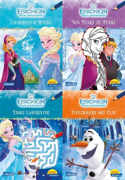 Pixi kreativ Serie Nr. 26: 4er-Bundle: Disney: Die Eiskönigin - Völlig unverfroren