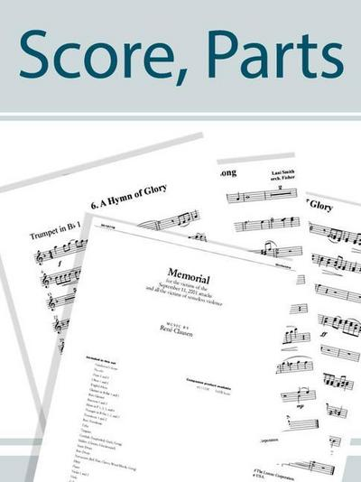 The Strife Is O'Er - Brass Quintet Score and Parts