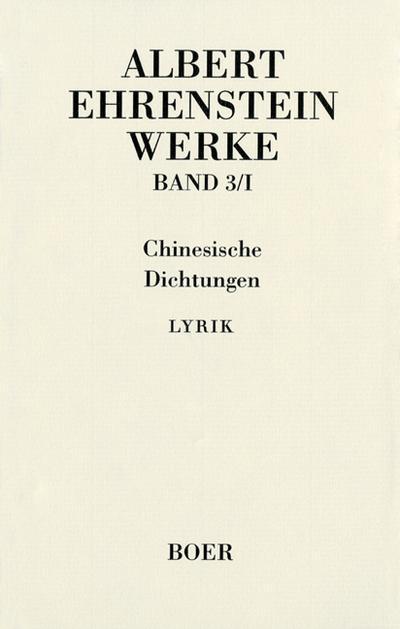 Werke III: Chinesische Dichtungen
