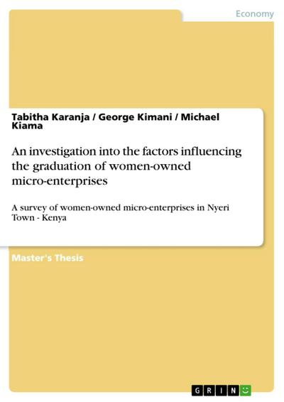An investigation into the factors influencing the graduation of women-owned micro-enterprises
