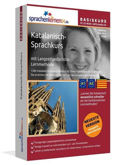 Sprachenlernen24.de Katalanisch-Basis-Sprachkurs. PC CD-ROM für Windows/Linux/Mac OS X + MP3-Audio-CD für Computer /MP3-Player /MP3-fähigen CD-Player