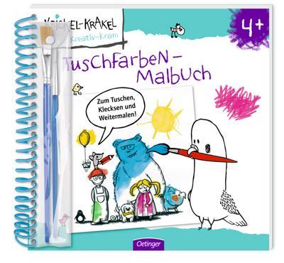 Krickel-Krakel kreativ-kram Tuschfarben-Malbuch