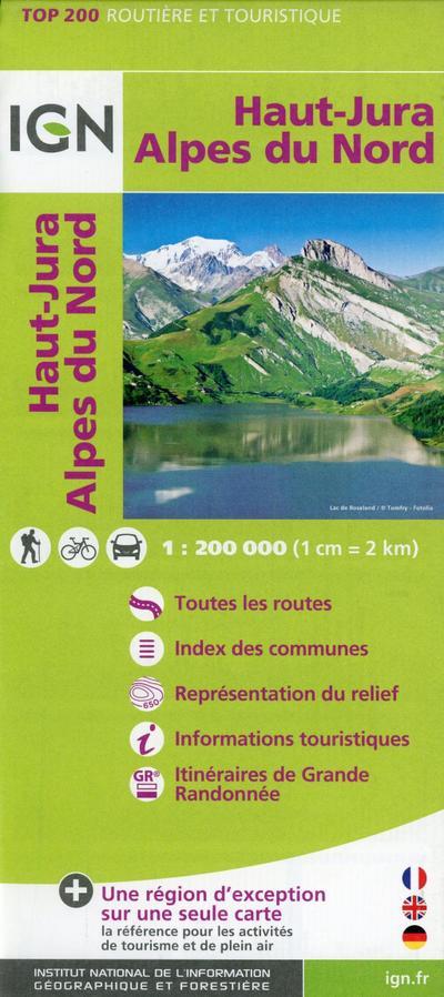 Haut-Jura Alpes du Nord 1:200 000
