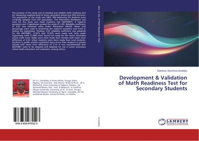 Development & Validation of Math Readiness Test for Secondary Students