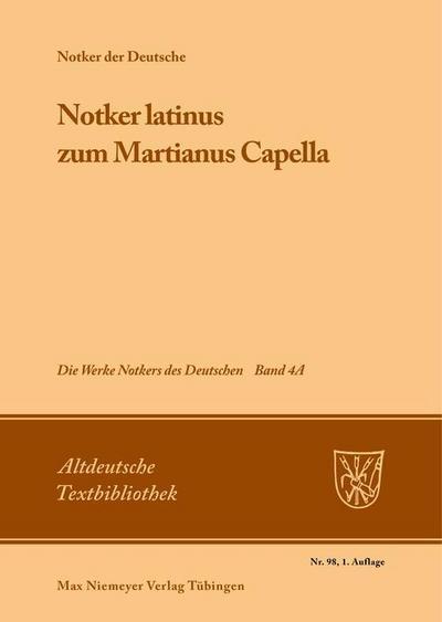 »Notker latinus« zum Martianus Capella