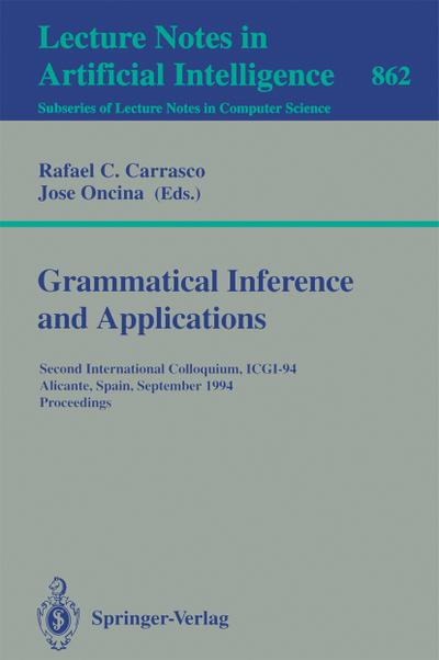 Grammatical Inference and Applications
