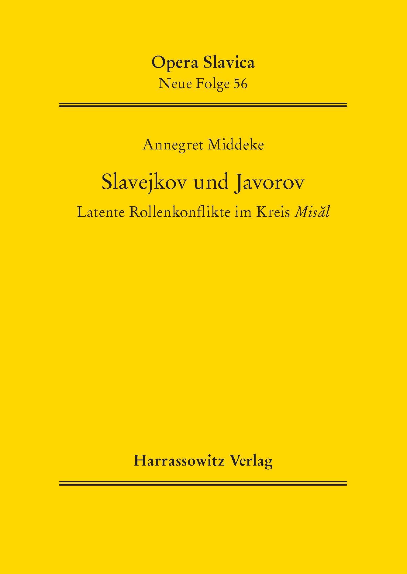 Slavejkov und Javorov Annegret Middeke
