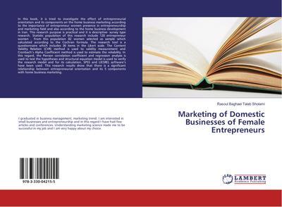 Marketing of Domestic Businesses of Female Entrepreneurs