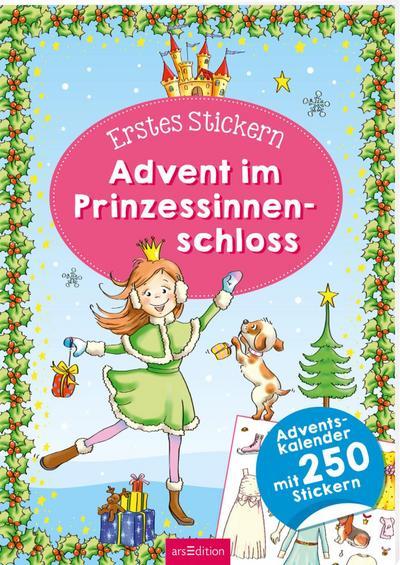 Erstes Stickern. Advent im Prinzessinnenschloss