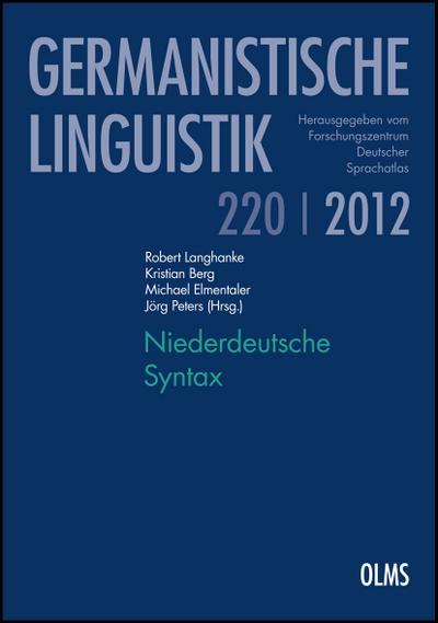 Niederdeutsche Syntax