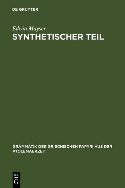 Synthetischer Teil