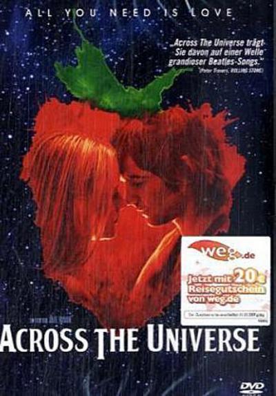 Across the Universe, 1 DVD, deutsche u. englische Version