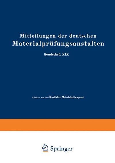 Mitteilungen der deutschen Materialprufungsanstalten