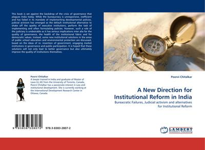 A New Direction for Institutional Reform in India