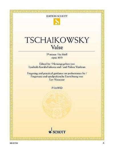 """Valse fis-Moll: aus """"Zwölf Stücke mittleren Schwierigkeitsgrads"""". op. 40/9. Klavier. (Edition Schott Einzelausgabe)"""