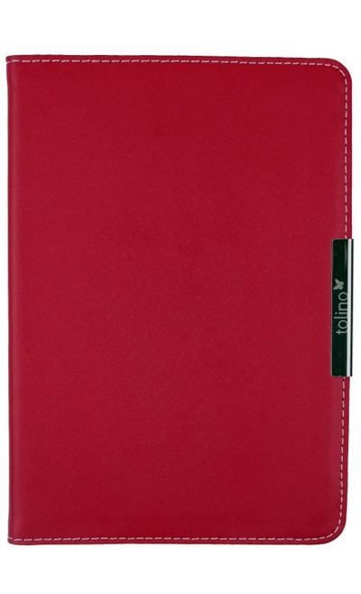 tolino shine Ledertasche im Buchformat Rot