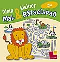 Mein kleiner Mal- & Rätselspaß. Zoo; Malbücher und -blöcke; Ill. v. Schmidt, Sandra; Deutsch; s/w
