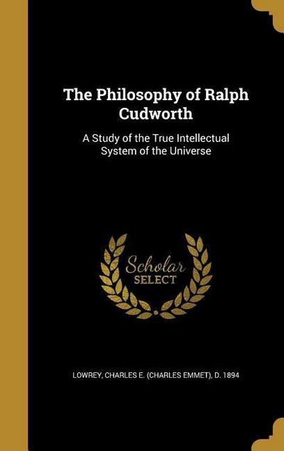 PHILOSOPHY OF RALPH CUDWORTH