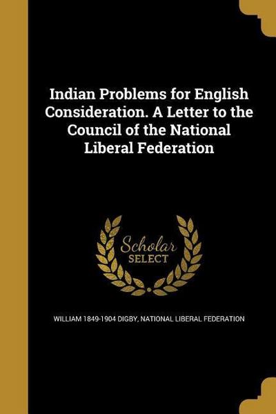 INDIAN PROBLEMS FOR ENGLISH CO
