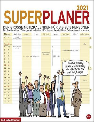 Butschkow Superplaner - Kalender 2020