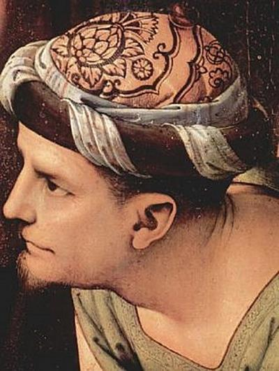 Pietro Perugino - Beweinung Christi, Detail: Josef von Arimathia - 200 Teile (Puzzle)