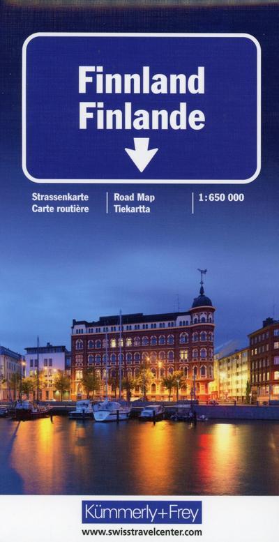 KuF Finnland 1:650 000 Straßenkarte