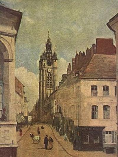 Jean-Baptiste-Camille Corot - Glockenturm von Douai - 200 Teile (Puzzle)