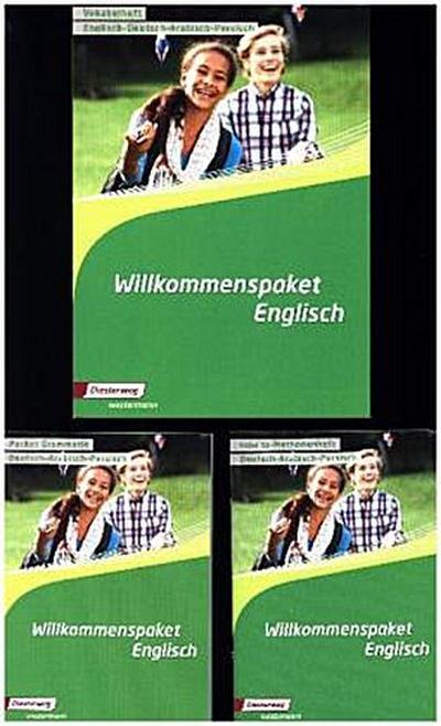 Willkommenspaket Englisch - Starter Set: Vokabelheft/Grammatik/Methodenheft, 3 Hefte