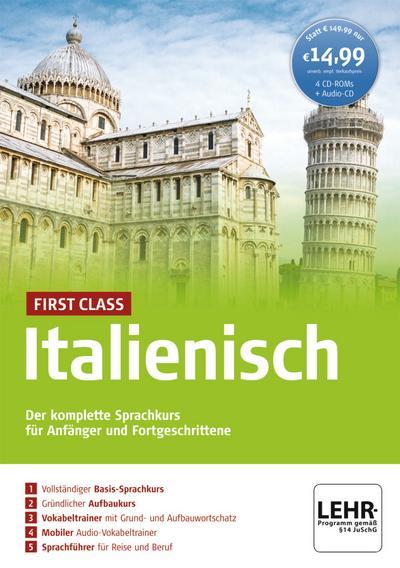 First Class Italienisch, 4 CD-ROMs + Audio-CD